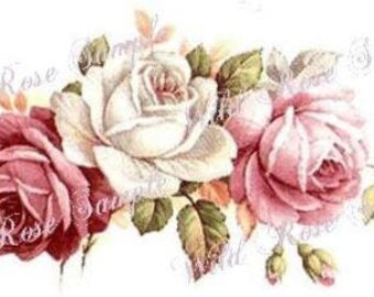 VinTaGe BeauTiFuL FLoRaL SWaGs & BuDs ShaBby DeCALs