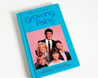 SALE Vintage 1980s Childrens Chapter Book Growing Pains by NH Kleinbaum 1986 VGC Hc, 1980s Gen X Hit Tv Show Mike Seaver Family Sitcom Comed