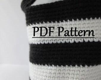 CROCHET PATTERN Basket, Crochet Basket Pattern, Crochet Storage Basket, Pattern Crochet Basket, Basket Pattern Crochet, Striped basket