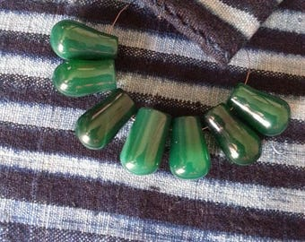 African glass beads, Tear drops beads, Mali beads, Wedding beads, Vintage beads, Recycled glass beads