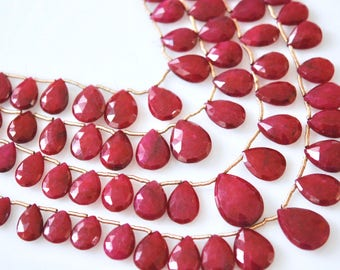 Faceted ruby pear brio WHOLESALE PRICE 25.00