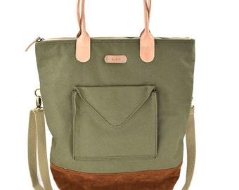 tote bag,laptop bag,fold over tote,diaper bag,diaper tote,laptop tote,purse,cross body bag,college student gift,school bag,canvas bag