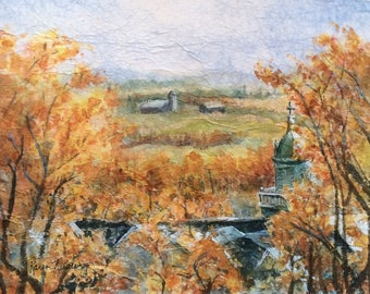 Autumn Valley (Giclée print, matted and framed)