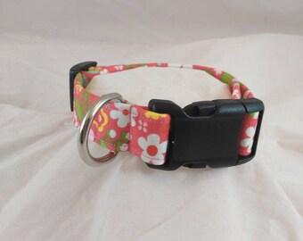 Dog or Cat Collar, Breakaway Collar, Flowered Collar, Small Dog Collar, Adjustable Collar, Pet Collar, Collar de perro, Les Fleurs Collar