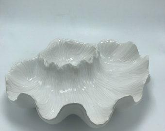 Vintage Bordallo Pinheiro White Clam Dish