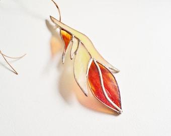 Glas Feder Glasmalerei Suncatcher von jacquiesummer