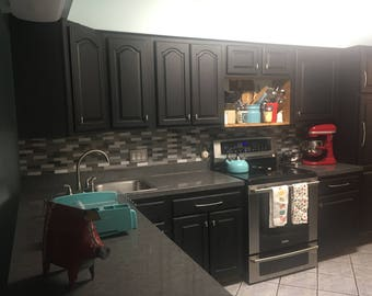 Instant Counter Top Update Peel and Stick Soapstone Granite Bubble Resistant PVC Film