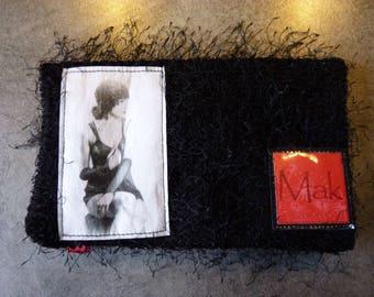 Original PIN UP fabric checkbook cover