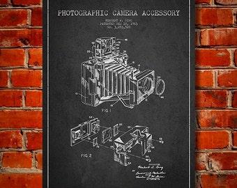1963 Photographic Camera Patent, Canvas Print, Wall Art, Home Decor, Gift Idea