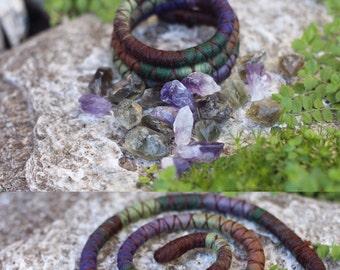 Dark Fairy Garden - custom length felt Spiralock - the Original Bendable dread tie