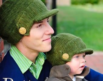 make your own Salute Hat (DIGITAL KNITTING PATTERN) baby toddler child tween teen adult
