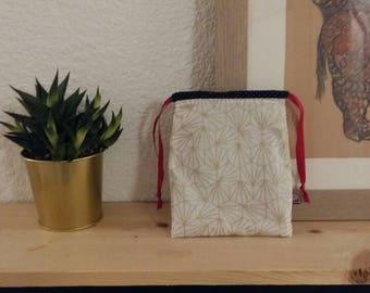 Fabric - origami gold clutch purse