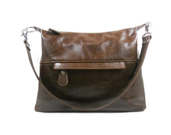 Fine Leather Crossbody Bag, Leather Hobo Bag, Handmade Leather Purse with Pockets, Shoulder Bag, Leather Handbags Made in USA