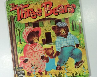 The Three Bears - Top Top Tales - Whitman - 1961 - Hardcover - Illustrated by Carol and Mary Hauge - Vintage Children's Book