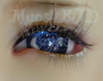 16mm blue night sky with moon bjd eyes