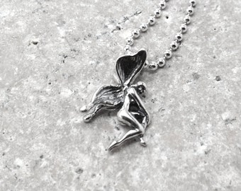 Fairy Necklace, Fairy Jewelry, Fairy Pendant, Faerie Necklace, Charm Necklace, Sterling Silver Jewelry, Sterling Silver Fairy Charm, Faeries