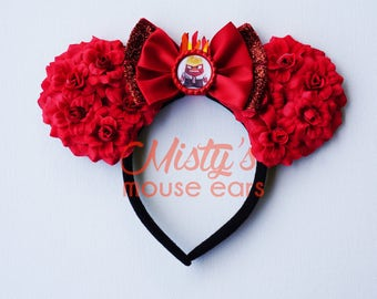 Inspired Anger from Inside Out Rose Mouse Ears