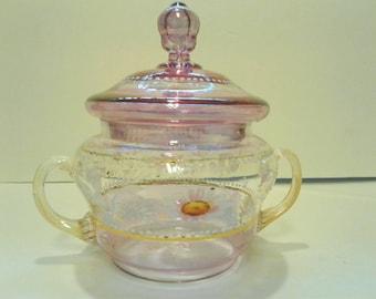Antique Venetian Glass Trinket Box