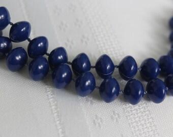 Dark Blue Sweater Necklace