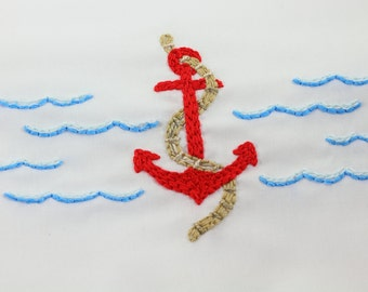 Seafood Embroidery Pattern
