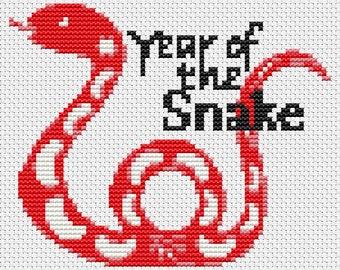 Snake Cross Stitch Kit, Year of the Snake Cross Stitch, Chinese Zodiac Cross Stitch, Embroidery Kit, Art Cross Stitch