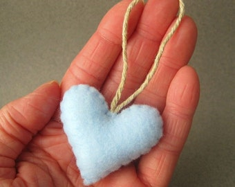 Baby Blue Eco Friendly Herz Ornament Wohnkultur Recycling Filz OlyTeam