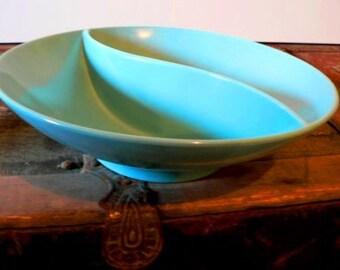 vintage kitsch ... MELMAC Blue  SWIRL BOWL rare fun find ...