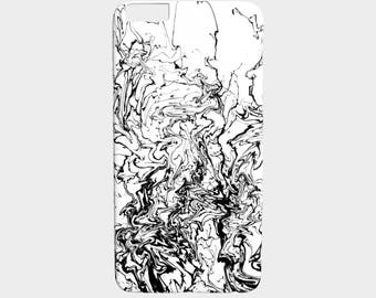 Phone Case, black white phone case, Design 80 abstract - Iphone 7, 6/6s Plus, 5/5s, Samsung Galaxy S7, S6, Edge, S5, S4, S3 by L.Dumas