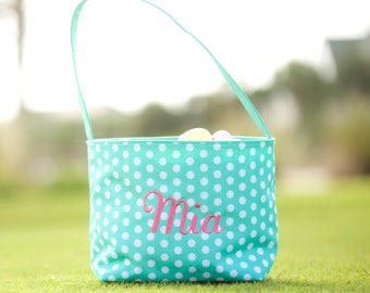 FREE MONOGRAM Personalized Monogrammed Embroidered Easter Baskets - Hadley Bloom Flowers