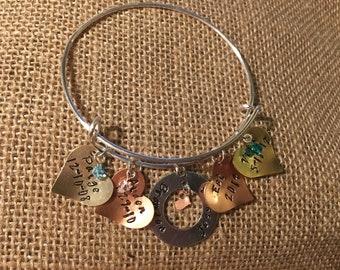 Adjustable Charm Bracelet
