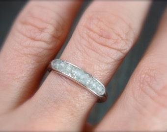 aquamarine …. gemstone stack ring