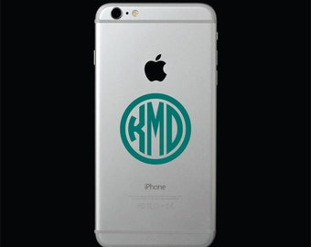 Phone Monogram Decal, Cellphone Monogram, Phone Monogram, Phone Decals, Monogram for Phone, Cell Phone Decal, Monogram Decal for Phone