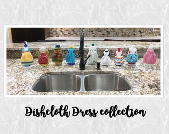 Cotton Dishcloth Set-Bottle Cover-Kitchen Display Decor