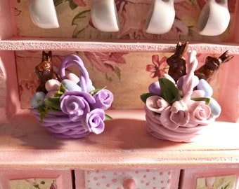 Easter Basket, 1:12 Dollhouse Miniature