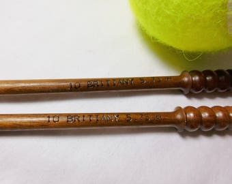 Brittany Black Walnut Knitting Needles