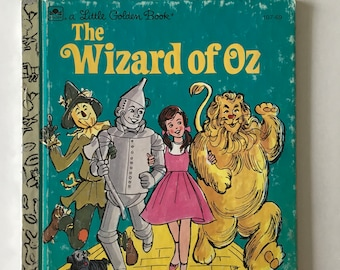 Wzard of OZ  Little Golden Book Vintage 1975 #107-69