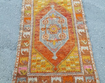 "Floor Rug, Turkish Oushak Rug, Turkish Oushak Rugs, Turco Rug, Fashion Rug 2'7"" x 4'4"" feet  / 85 x 135 cm"
