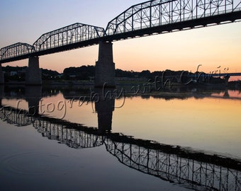 Reflections  ,        Walnut Street Bridge, Chattanooga Tennessee