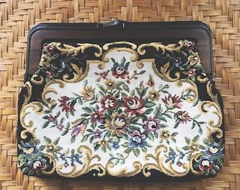 tapestry clutch purse
