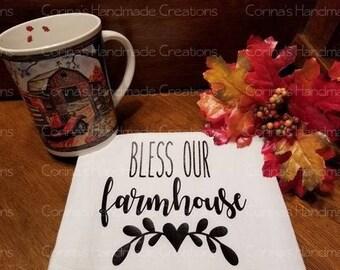 Bless Our Farmhouse Flour Sack Towel