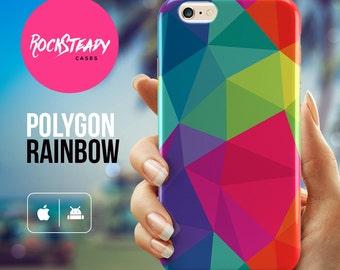 Geometric phone case, iPhone 6s, 8, 7 Plus, SE, X cover, Samsung Galaxy S8 Plus, S7 Edge, S6, S5 colourful phone case