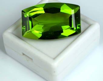 44.65 Ct. Cushion Cut Brazilian Olive Green Peridot Loose Gemstone Free Shipping