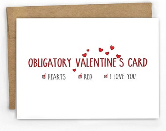 Funny Love Card | Funny Valentines Day Card | An Obligatory Card by Cypress Card Co.