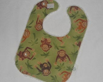 Fun Monkeys and Chenille Boutique Bib - SALE