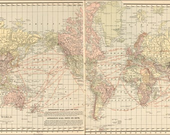 Poster, Many Sizes Available; Map Of The World 1913