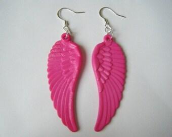 Angel Wings earrings - pink