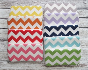 Chevron Baby Wipes Case, Riley Blake Chevron print, Available in 9 Colors, Modern Baby Design