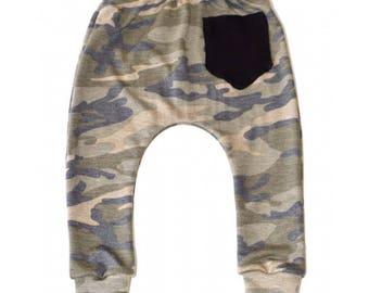 Cool Camo Pocket Harem Pants