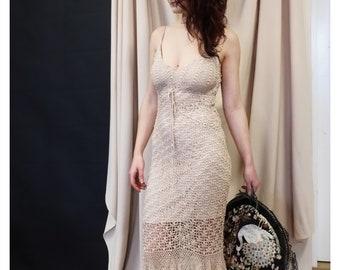 Crocheted vintage dress