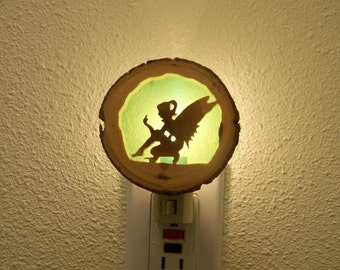 Kneeling fairy nightlight